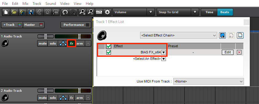 how to use bias fx