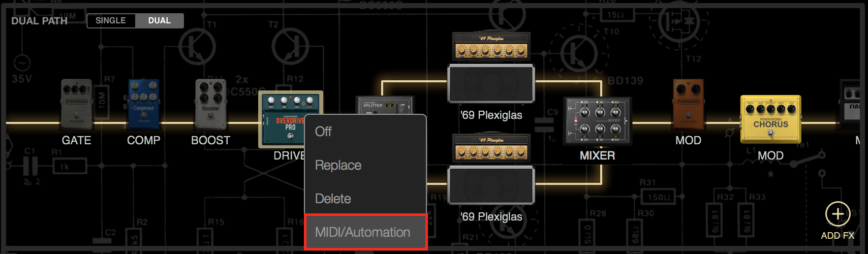 How to Control BIAS FX Plug-in with MIDI Controller in Logic